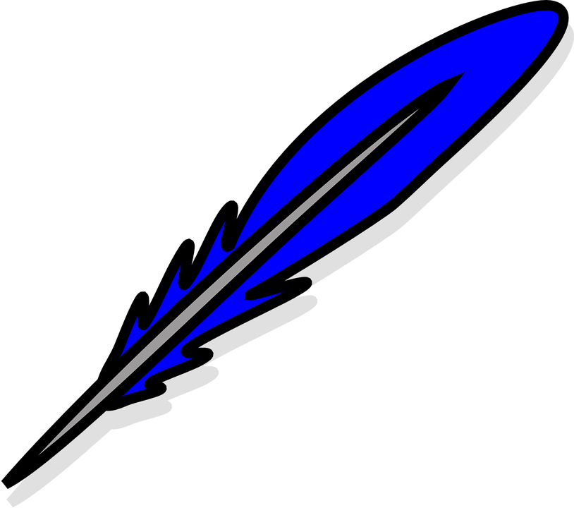 Free vector graphic: Feather, Quill, Write, Blue, Light.