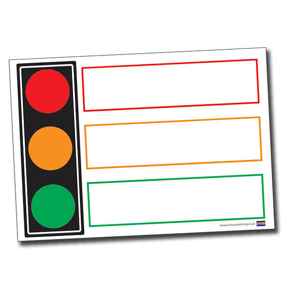 Traffic Light A1 Supersize Plastic Write & Wipe Poster.