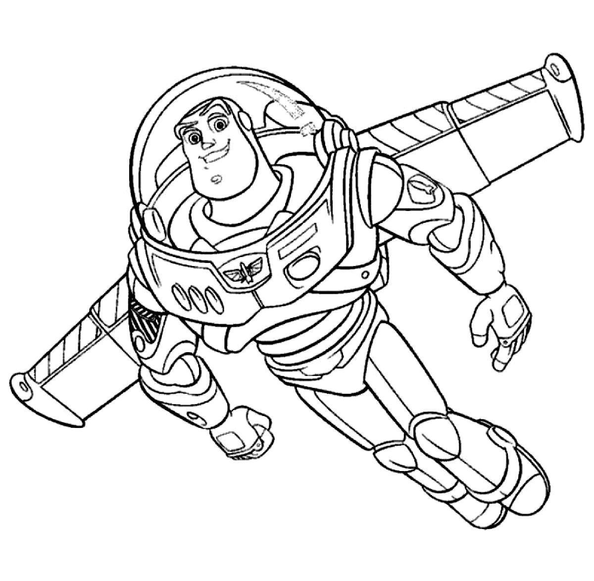 Buzz Light Year Black And White Clipart.