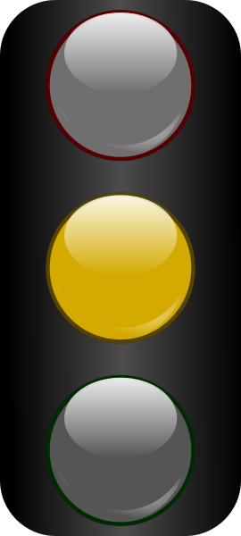 Clipart traffic light yellow.