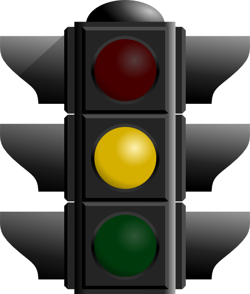 Yellow traffic light clipart.
