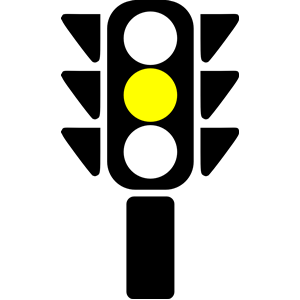Clip Art Traffic Light Yellow.