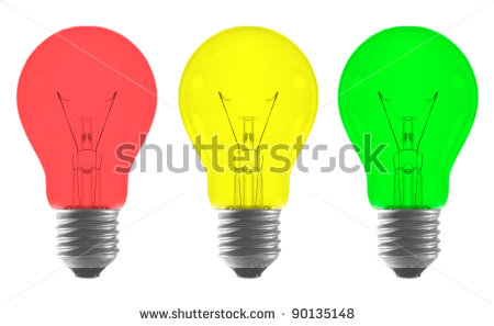 Light Bulb Red Yellow Background Clipart.