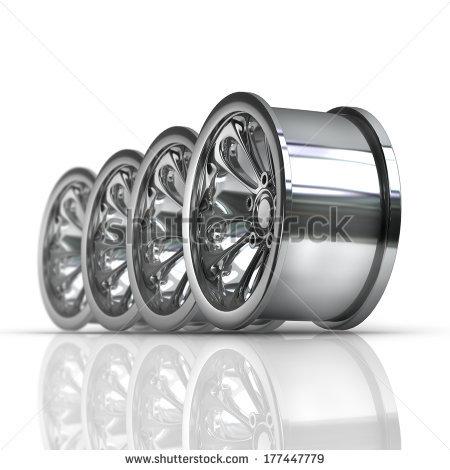Steel Wheel Rims Stock Photos, Royalty.