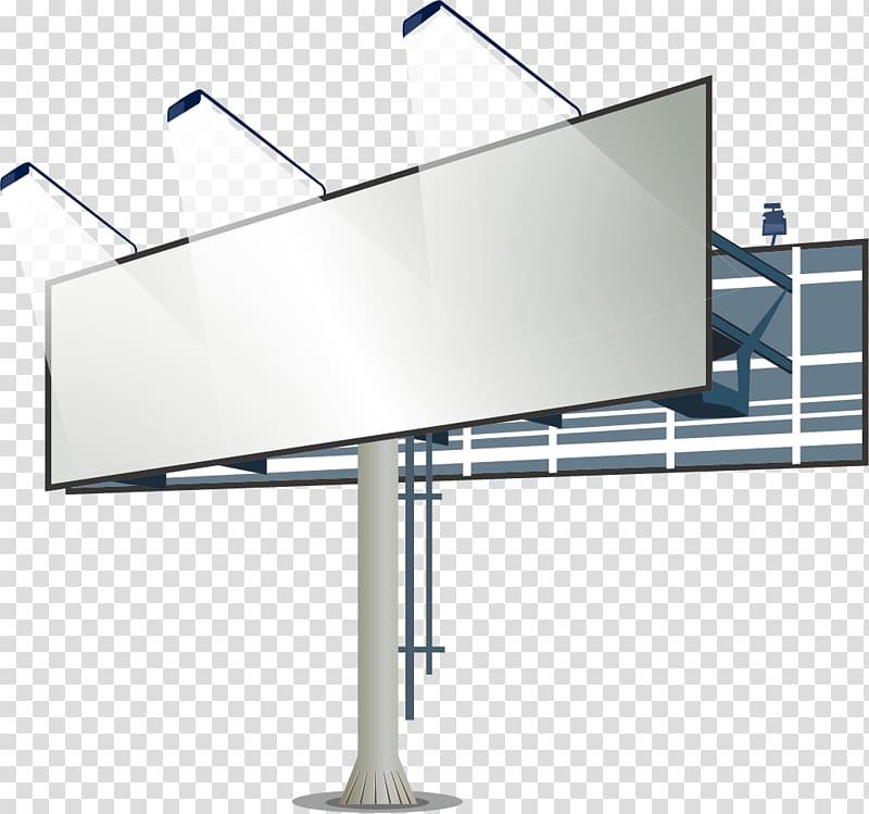 Billboard illustration, Billboard Advertising Lightbox.