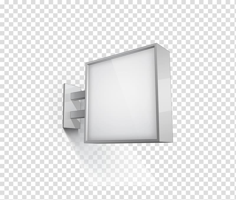 White LED signage, Lightbox Advertising Poster, Square light.