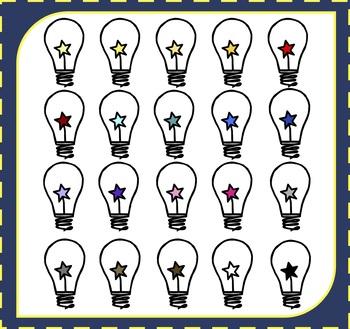 Lightbulbs Clipart / Star Clipart.