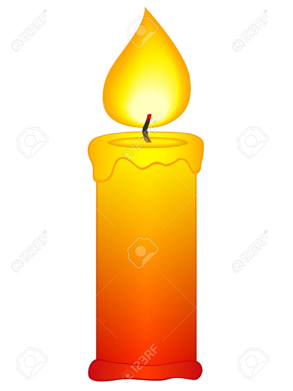 Candle clipart lighted candle, Candle lighted candle.