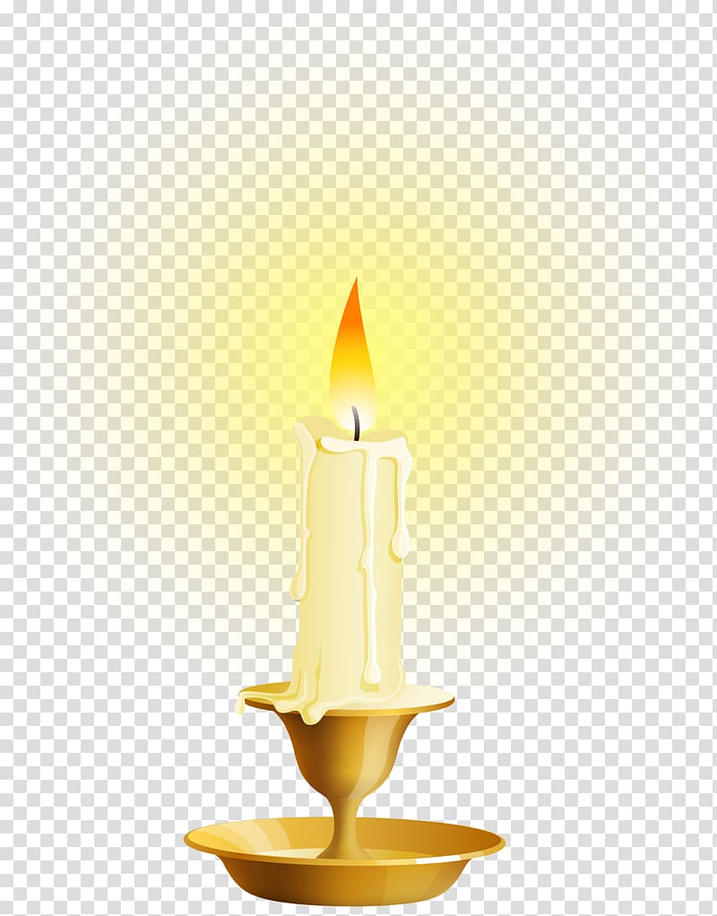 White lighted candle art illustration, Candle Combustion.