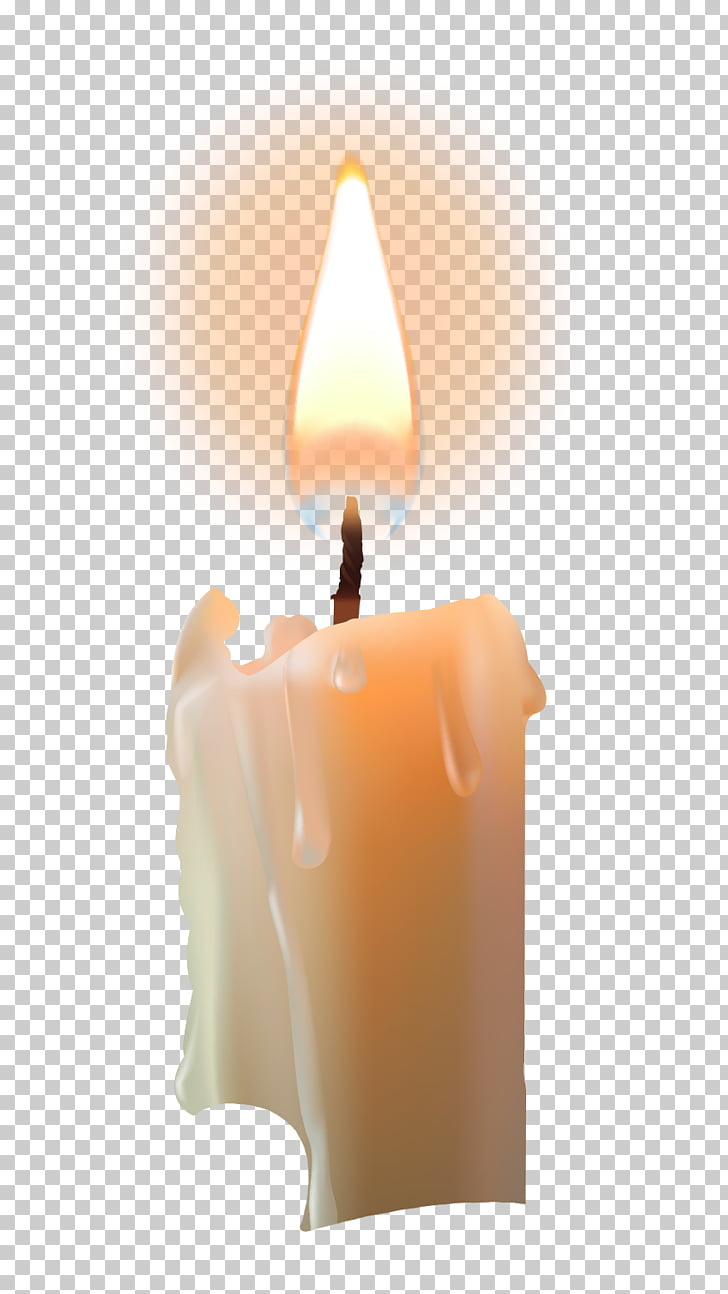 Candle Computer file, Candle for blessing, lighted white.