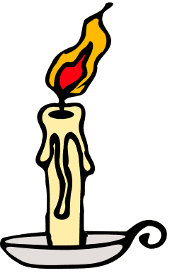 Lighted candle clipart.
