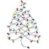 Lighted Christmas Tree Clip Art.