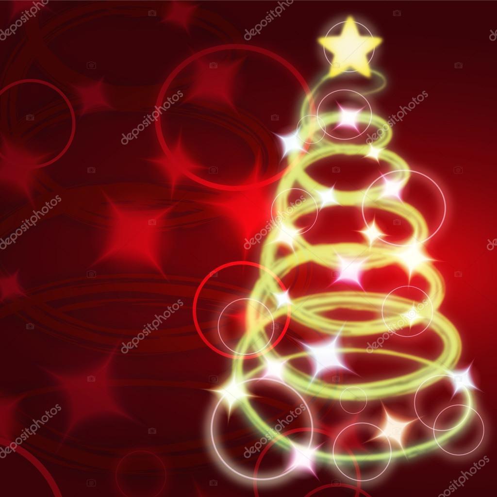 Clip art of lighted christmas tree — Stock Vector © kozzi2 #13234663.