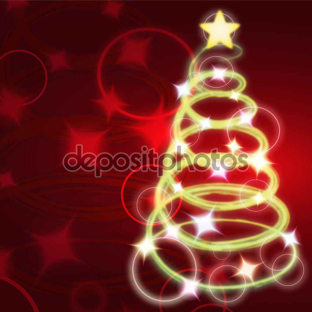 Clip art of lighted christmas tree — Stock Vector © kozzi2 #93536218.