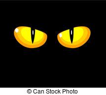 Spooky eyes clipart.