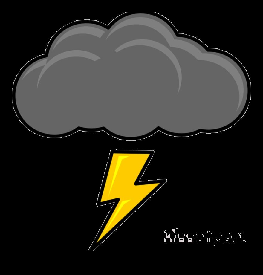 Lightning Cartoon Thunder Cloud Clipart Clip Art Transparent.