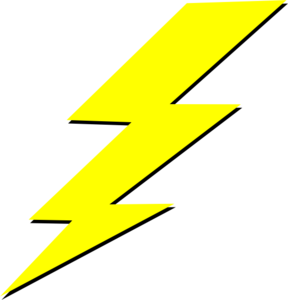 Blue Lightning Bolt Clipart.
