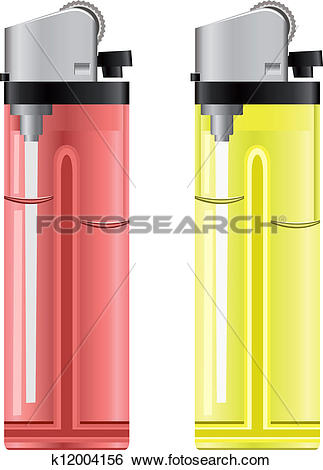 Clip Art of Colored lighters. Vector illustration k12004156.