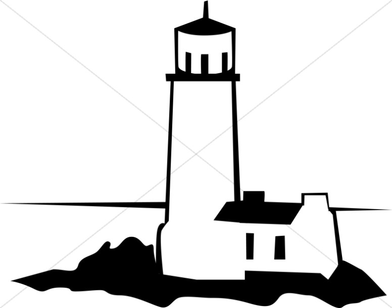Black and White Lighthouse.