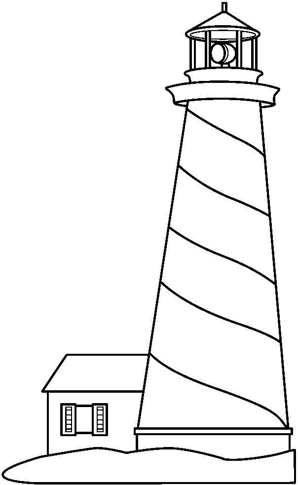 Black and White Lighthouse Clip Art.