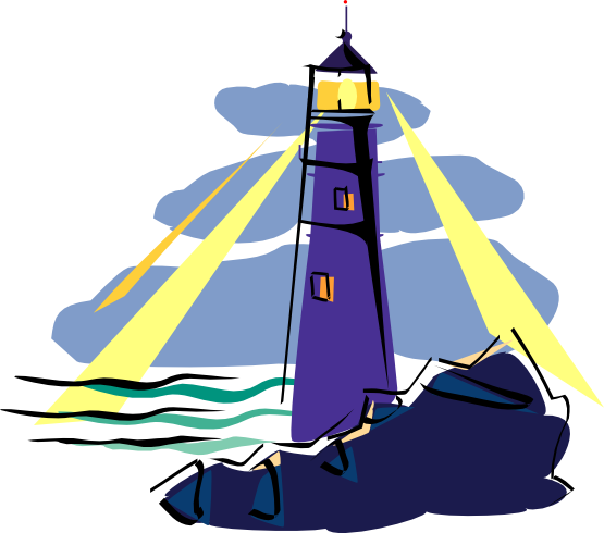 Cute Lighthouse Clipart.
