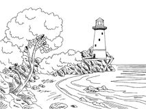 Lighthouse Clipart Black And White (85+ images in Collection.