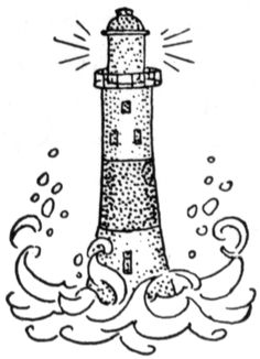 outline of a lighthouse.