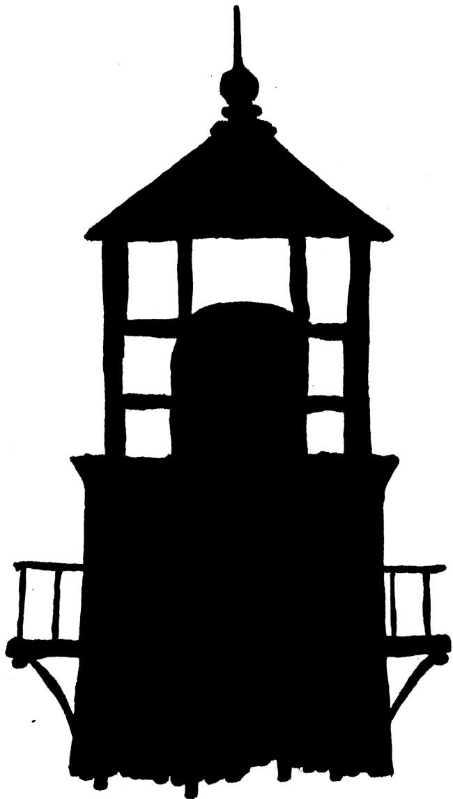 lighthouse clipart outline #7