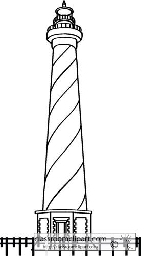 Lighthouse Clipart Outline.