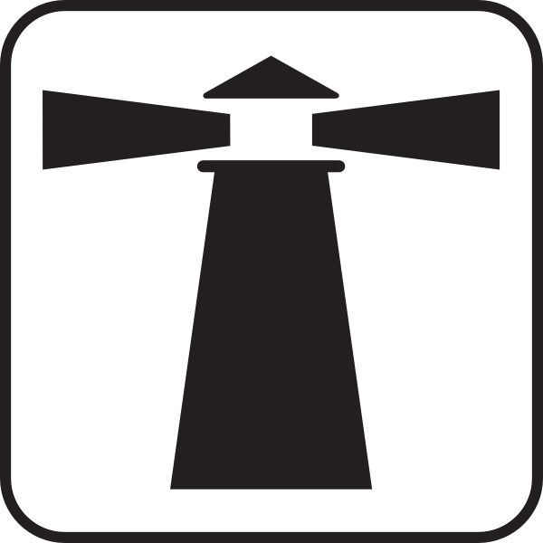 Free Lighthouse Clipart Outline Image.