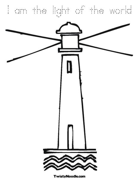 lighthouse clipart outline #15