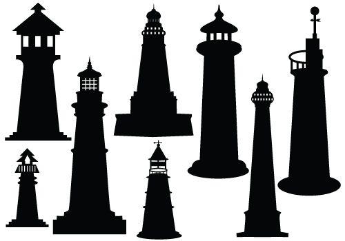 Lighthouse outline clipart etc.