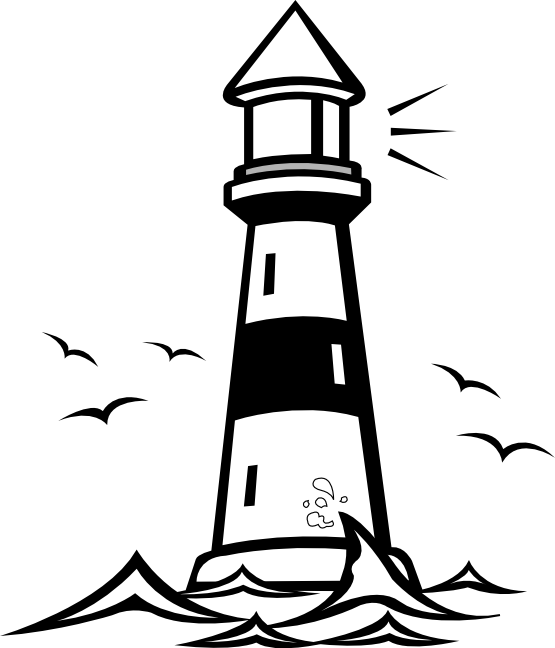 Lighthouse Clipart Black And White Panda Free.
