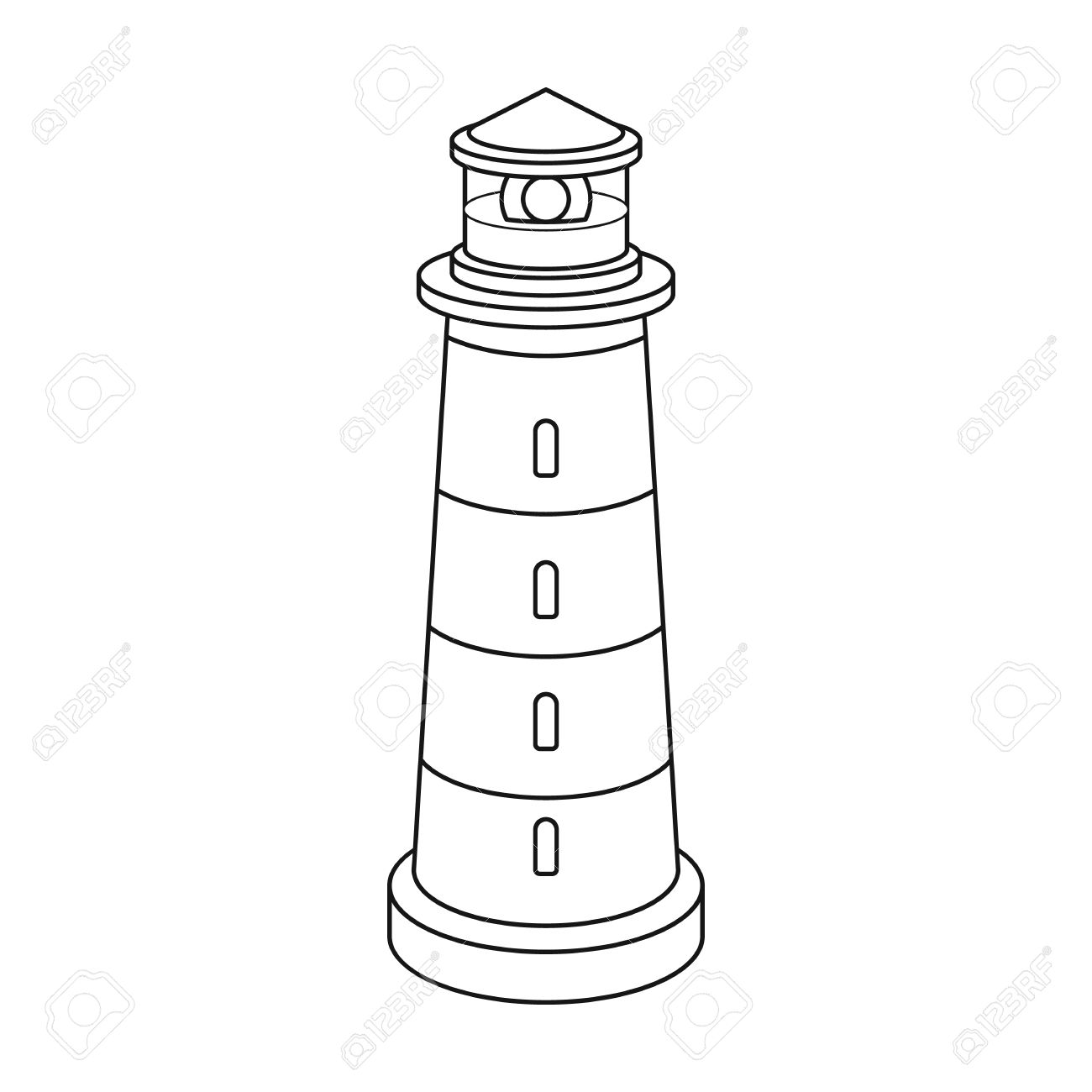 636 Lighthouse free clipart.