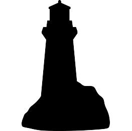 Lighthouse Silhouette FREE SVG.