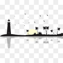 Lighthouse Silhouette Png, Vector, PSD, and Clipart With.