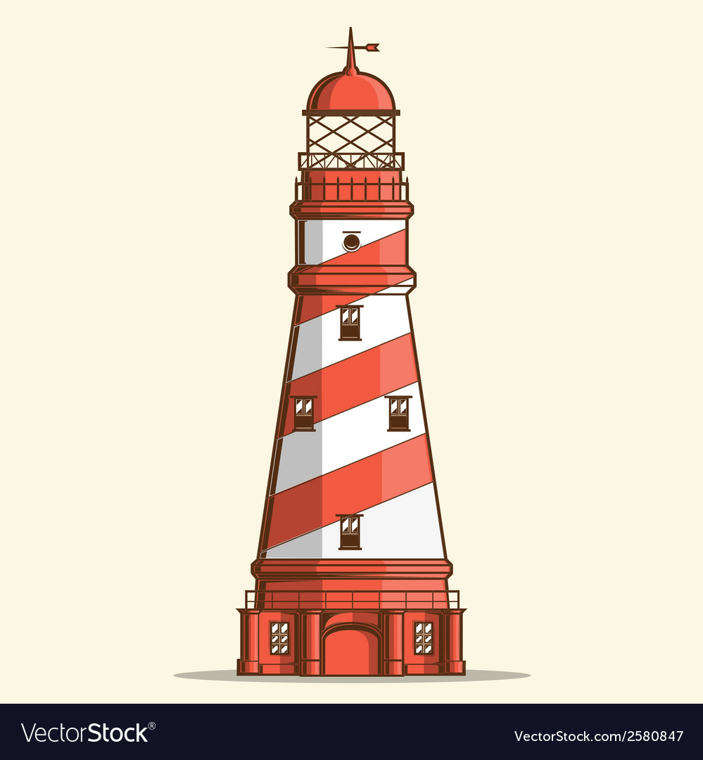 Retro lighthouse.