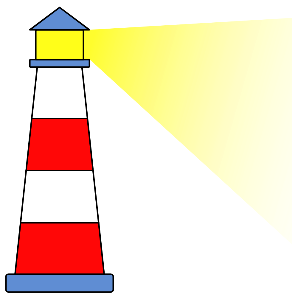 Yellow Light House Clipart.