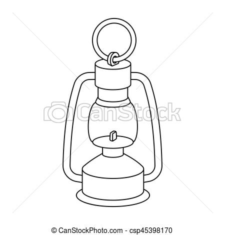 Vectors Illustration of A gas lamp.The lighting device of miners.