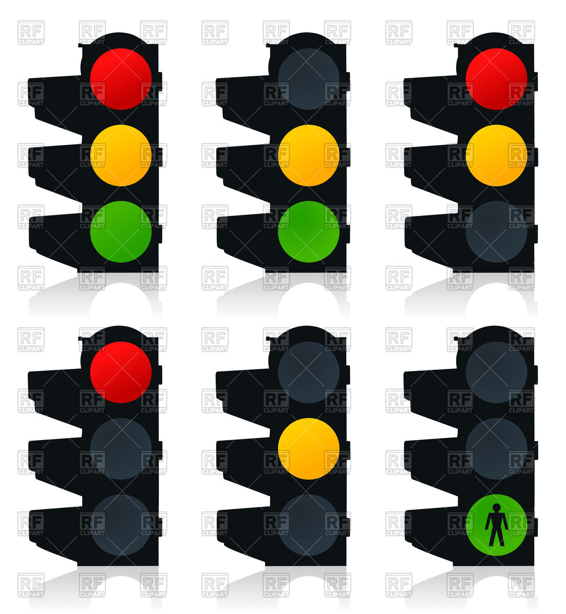 Icons of city traffic lights Vector Image #79832.