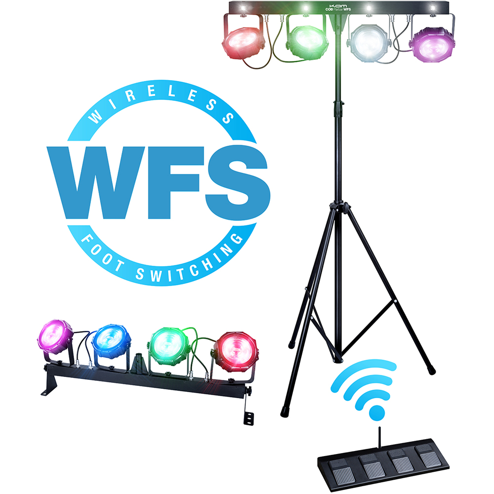 KAM COB Parbar WFS Wireless Footswitch Lighting System.