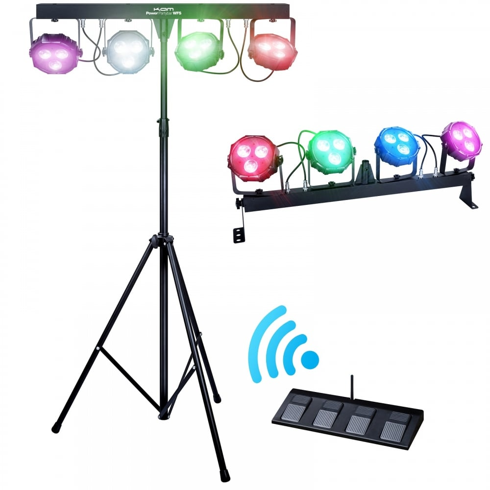 Compact Lightweight Mobile Stage 9w LED Lighting System.