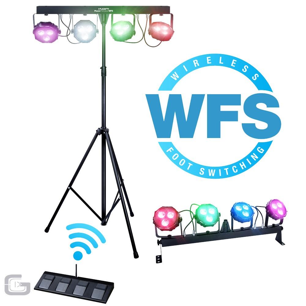 KAM LED Party Bar PartyBar V2 DJ Band Lighting System Par Bar.