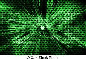 Clip Art of Lighting technology background.