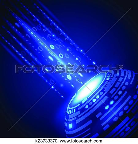 Clipart of Abstract technology innovation background, vector.