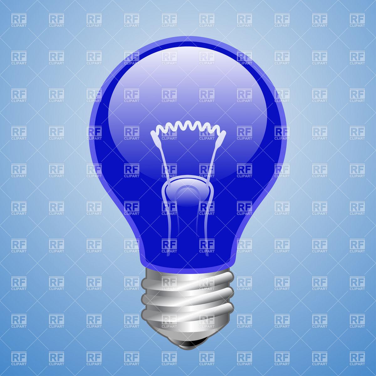 Blue light bulb Vector Image #5790.