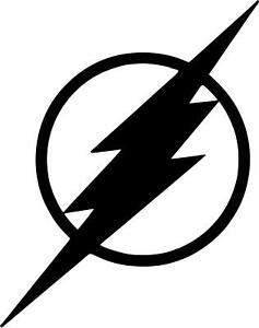 Details about The Flash Logo Vinyl Decal Lightning Bolt D.C. Comics Car  Phone Laptop Truck.
