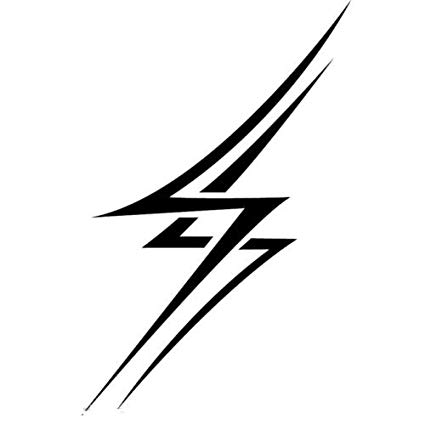 Amazon.com: TRIBAL LIGHTNING BOLTS CAR DECAL STICKER, Black.