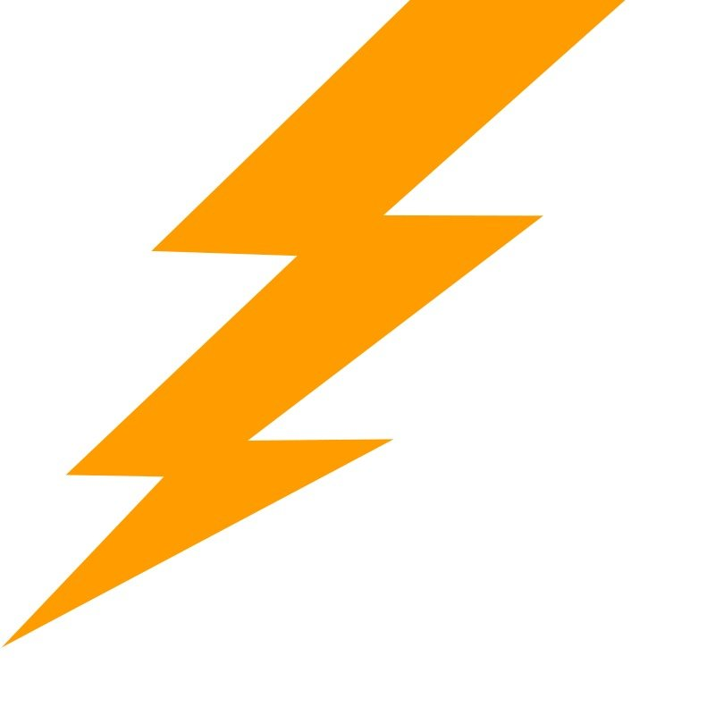 Yellow lightning as a picture for clipart free image.