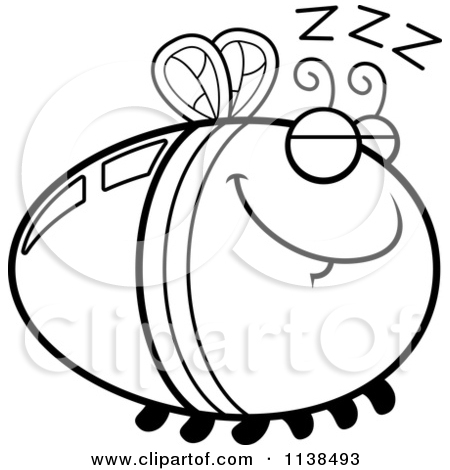 Cartoon Clipart Of An Outlined Scared Firefly Lightning Bug.